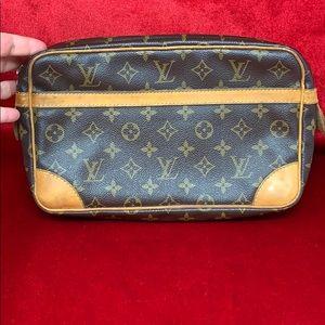 Authentic Louis Vuitton clutch monogram compiegne